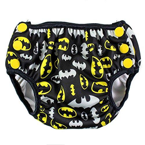 Bumkins DC Comics Reusable Swim Diaper, Batman Print, (Dc Comics Baby Clothes)