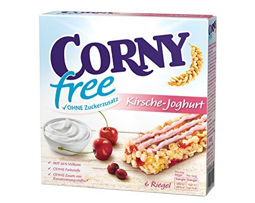 Corny Müsli-Riegel Free Kirsch-Joghurt, 10er Pack (10 x 120 g Packung)