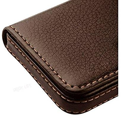 1f14af73afd Alexvyan -Genuine Accessory - Stylish Pocket Sized Stitched Leather  Visiting Card Holder For Keeping Business Cards And More - Brown   Amazon.in  Office ...