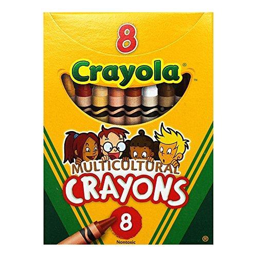 CRAYOLA LLC MULTICULTURAL CRAYONS REG 8PK (Set of 24) by Crayola