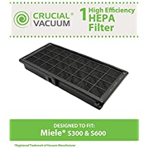 High Quality HEPA Filter Designed To Fit Miele S300, S600, S2, S7 Series Vacuums; Compare To Miele Part # SF AH30; Designed & Engineered By Crucial Vacuum