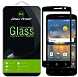 [2-Pack] Dmax Armor for ZTE Blade Spark Screen Protector, (Full Screen Coverage) [Tempered Glass] Anti-Scratch, Anti-Fingerprint, Bubble Free, (Black)