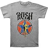 Rush Men's Stencil Starman T-shirt Small Grey