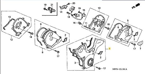 Acura 11810-RCA-A01, Engine Timing Cover