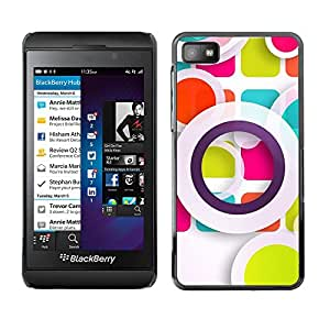 PC/Aluminum Funda Carcasa protectora para Blackberry Z10 White Pastel Abstract Art / JUSTGO PHONE PROTECTOR