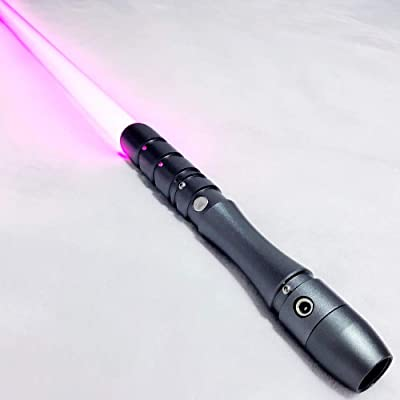 Saber Studio Lightsaber, Frosted Aluminum Alloy Hilt, Rechargeable RGB LED, Heavy Dueling with Blaster Sound -- 028 (Gray): Toys & Games
