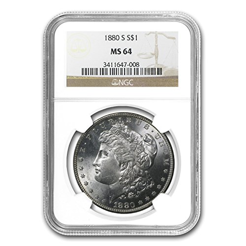 1880 S Morgan Dollar MS-64 NGC $1 MS-64 NGC