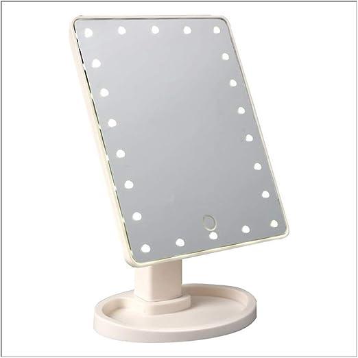 Espejo Maquillaje Espejos De Mesa 22 Luz LED De Maquillaje De Mano ...