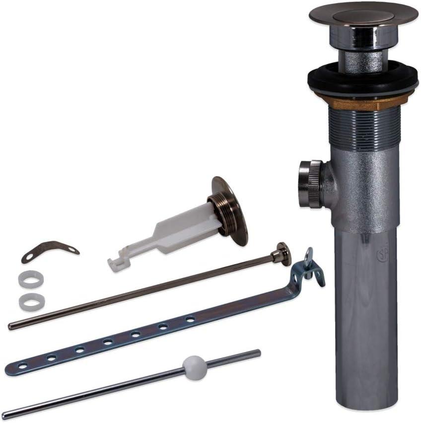 EZ-FLO 10903 Pop-Up Lavatory Bathroom Sink Drain Assembly Brass Body, 20-Gauge, Brushed Nickel Finish