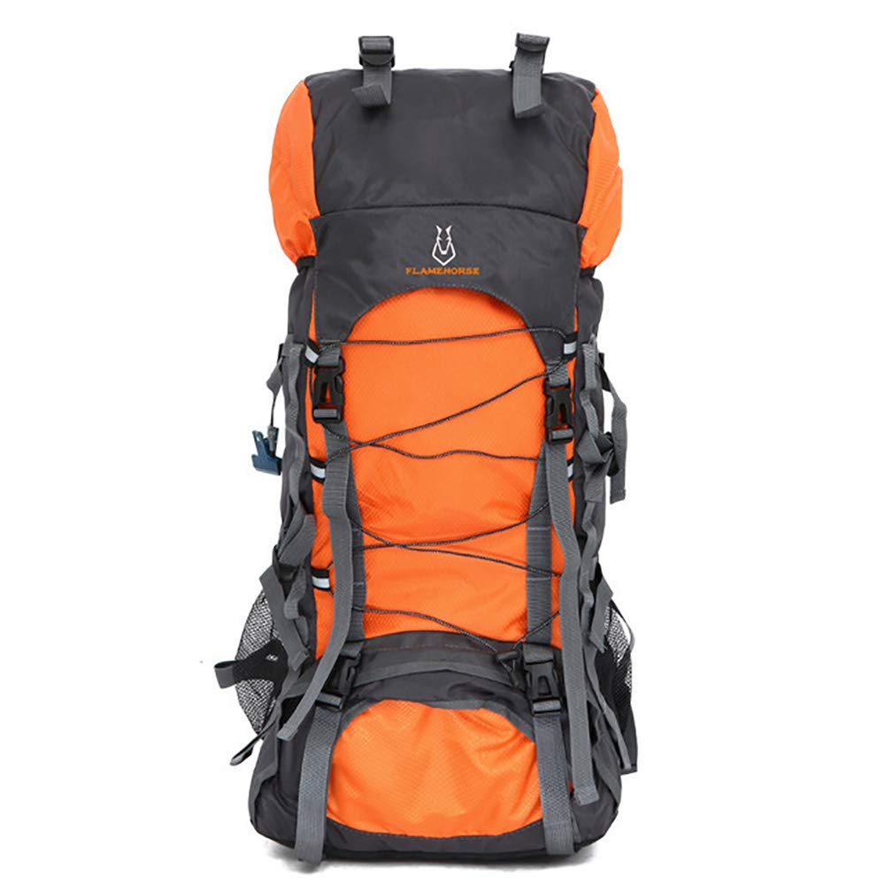 D  FOWYJ 60L Haute Qualité Camping en Plein Air Sac à Dos Imperméable à La Randonnée Sac à Dos Randonnée De Grande Capacité épaule Escalade Sac