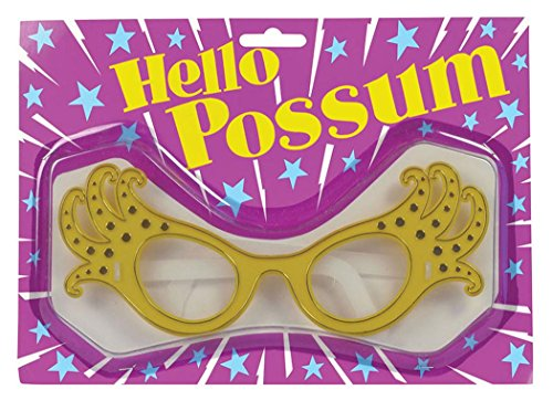 Adult Fancy Party Dress Accessory 1950s Style Rock N Roll Dame Edna Glasses (Dame Edna Costumes)