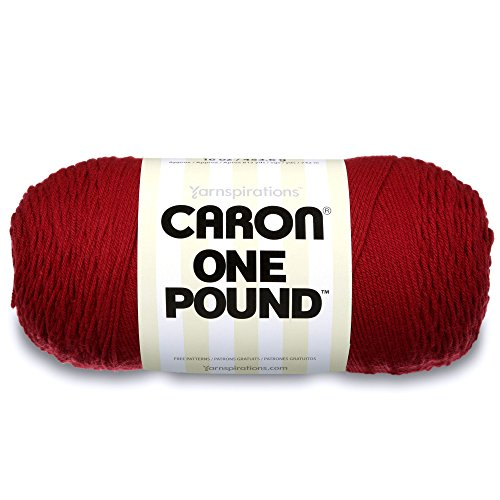 Caron One Pound Solids Yarn - (4) Medium Gauge 100% Acrylic - 16 oz - Claret- For Crochet, Knitting & Crafting