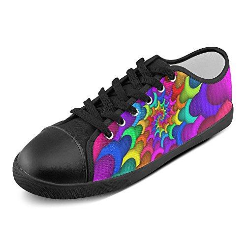 Artsadd Psychedelic Rainbow Spiral Zapatos De Lona Para Hombres (model016) Multi Color4