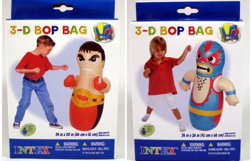3D BOP BAG Wrestler or Pirate Inflatable Toys Blowup 36 (1 Random Style) by Intex