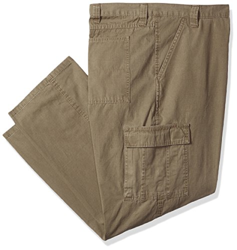 Wrangler Men's Big and Tall Authentics Classic Cargo Twill Pant, Military Khaki Ripstop, 44x30 (Cargo Mens Twill)
