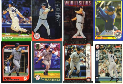 (Tino Martinez New York Yankees Collectors Baseball Card Lot w/Rookie Card)