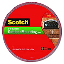 Scotch® Interior/Exterior Mounting Tape 4011-Long, 1 Inch x 450 Inches
