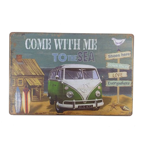home Wall Decor Souvenir Hanging Metal Tin Sign Plate Plaque (HARLEY-DAVIDSON 9) ()