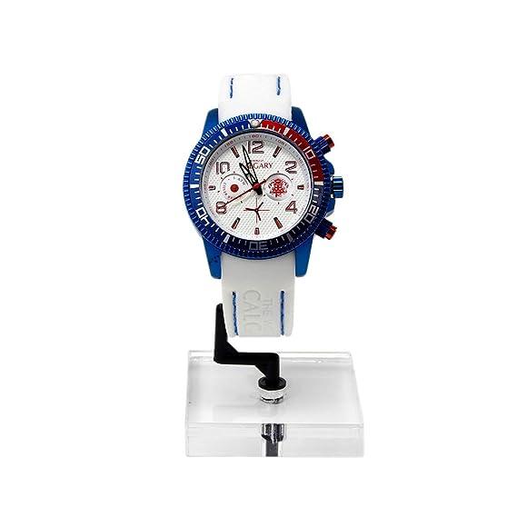 Relojes Calgary, Mazzini White, Correa Blanca Esfera Blanca Caja Azul: Amazon.es: Relojes