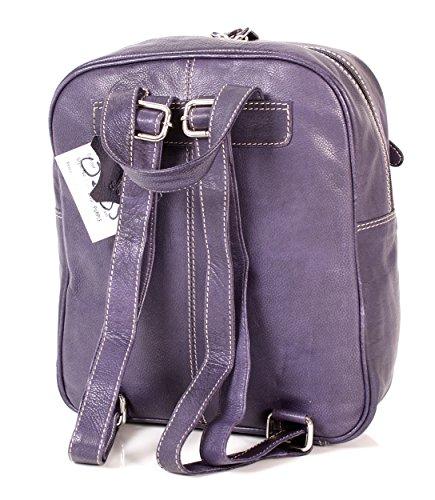 Oxbridge Satchel Shop - Bolso mochila  para mujer morado small