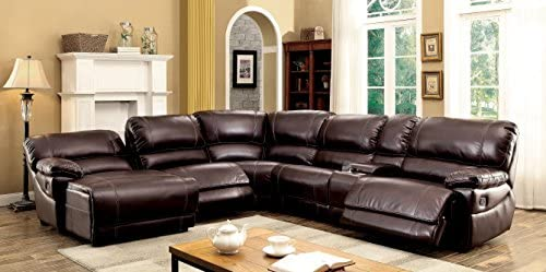 Strange Amazon Com Homes Inside Out Darrin Reclining Sectional Theyellowbook Wood Chair Design Ideas Theyellowbookinfo