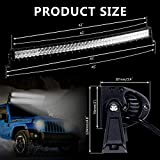Rigidhorse 42 Curved LED Light Bar 5D 400W 40000LM for Offroad 4x4 Jeep Truck ATV SUV Boat