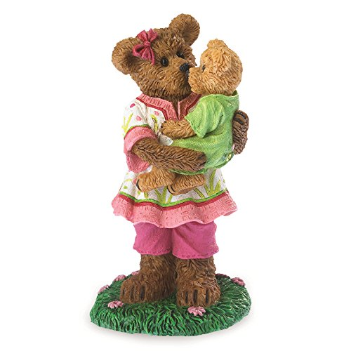 Boyds Bearstone Momma Sweetlove with Bebe Figurine (Teddy Bear Resin)