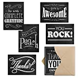 Retro Chalkboard Thank You Note Cards