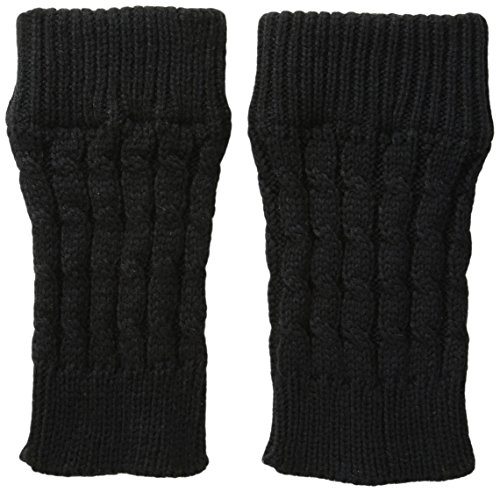 K. Bell Women's Cable Boot Cuff, Black, 9-11