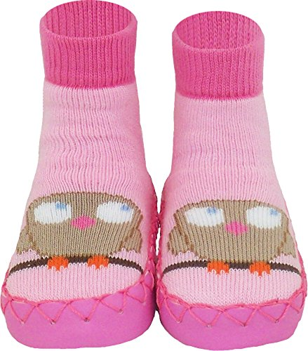 Amazon.com | Konfetti Owl Be Good Swedish Moccasins House Slippers ...