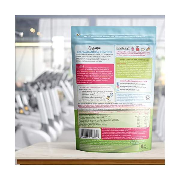 Polvere di Ashwagandha Cruda Bio di TheHealthyTree Company - Vegan, Erba 100% Naturale Ayurvedica Adattogena per la… 6 spesavip