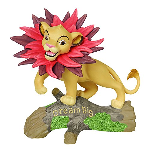 Precious Moments, Disney Showcase Collection, Dream Big The Lion King, Bisque Porcelain Figurine, 161701 (Lion Ceramic Bisque)