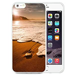 NEW Unique Custom Designed iPhone 6 Plus 5.5 Inch Phone Case With Morning Beach Waves_White Phone Case