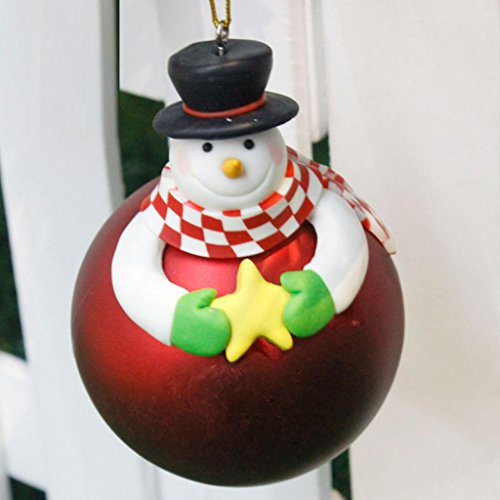 CieKen Merry Christmas Tree Decoration Balls Ornament Festival Gift Old Man Snowman Christmas Tree Ornaments Hanging (C)