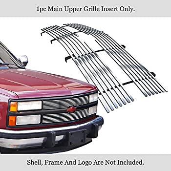 APS Compatible with 1981-1987 Chevy Blazer C K Pickup Suburban /& 81-87 GMC Suburban C K Pickup Jimmy Main Upper Stainless Steel Black 8x6 Horizontal Billet Grille Insert S18-J20058C