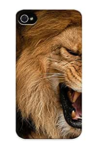 lintao diy Alexanderdson High Quality Lion Cat Predator Case For Iphone 4/4s / Perfect Case For Lovers WANGJIANG LIMING