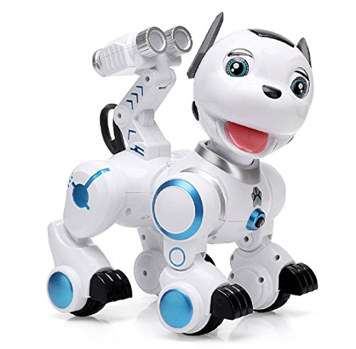 dress jumpers Yeezee Wirless Robot Puppy, Kid's Interactive Patrol Pup with Cannon Ejector, Walking, Blink, Shake Head,Touch Response, Dancing, Walking, Turning Around