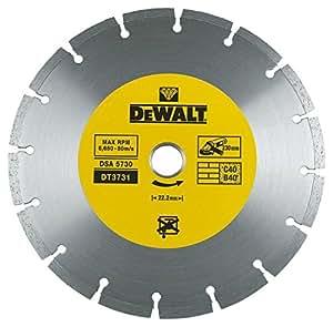 DEWALT DT3731-QZ - Disco de diamante para corte en seco con borde segmentado 230x22.2mm, para materiales de construcción
