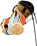 Sassy Caddy Women's Groovy Golf Stand Bag, Coral/Light Blue/Taupe