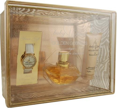 - Baby Phat Golden Goddess by Kimora Lee Simmons For Women. Set-eau De Parfum Spray 3.4-Ounces & Body Lotion 2.5-Ounces & Watch