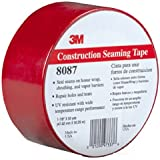 3M Construction Seaming Tape 8087 Red, 48 mm x 50 m, 1 7/8 in x 55 yd (Pack of 1)