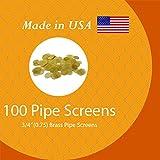 GRIMM 100 Brass Tobacco Pipe Screens