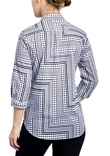 ETERNA 3/4 sleeve Blouse COMFORT FIT printed azul marino