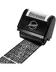 Miseyo Wide Roller Stamp Identity Theft Stamp 1.5 Inch Perfect for Privacy Protection