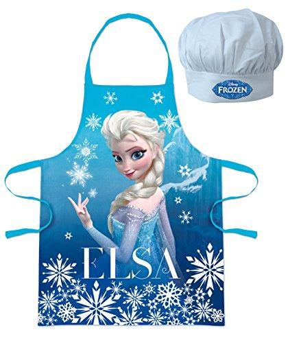 Walt Disney Frozen Die Eiskönigin (101344) Kinder Chefkoch-Set Kochschürze und Kochmütze, 2-teilig