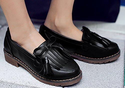 Scarpe Oxford Tacchi Donna, Scarpe Da Lavoro Uniforme Da Donna Scuola Lavoro Uso Anti-skid Nero