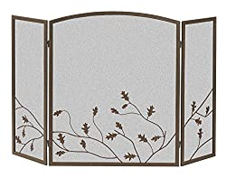 Panacea Products 15914 3-Panel Oak Leaf Fireplace Screen from PANACEA PRODUCTS CORP
