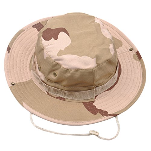 Gilroy Men Boonie Bucket Hat Military Fishing Camping Hunting Wide Brim Sun Cap