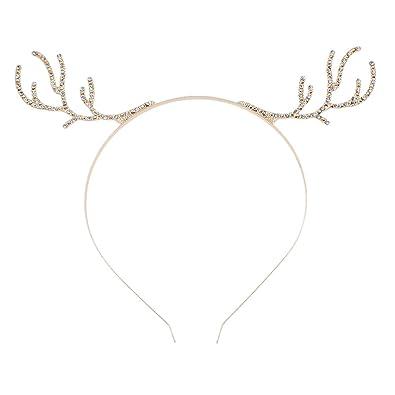 (ライチ) Lychee かわいい 鹿の角モチーフ カチューシャ トナカイ キラキララインストーン飾り付き