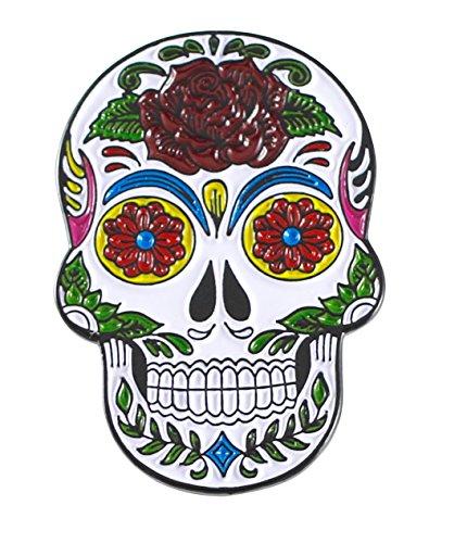 Forge Sugar Skull Skeleton Enamel Pin- Dia De Los Muertos